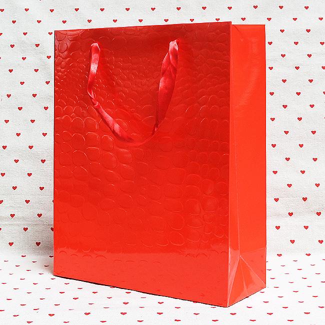 악어무늬 종이 쇼핑백(대)