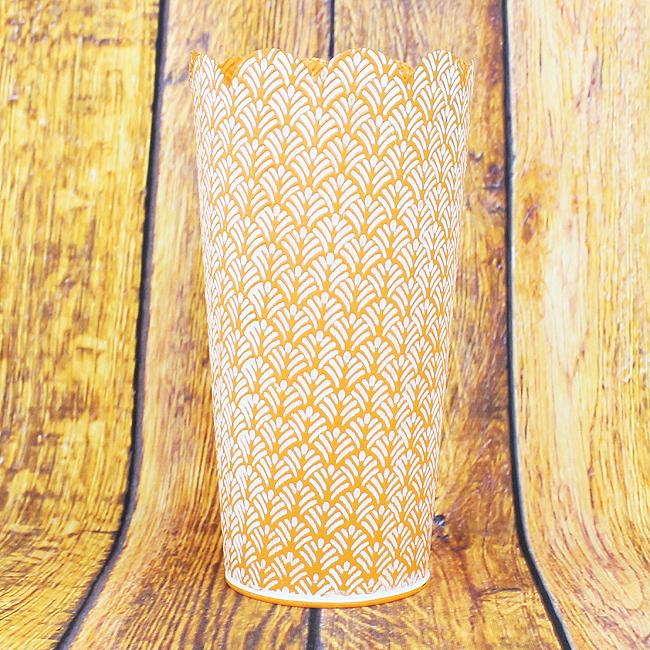 잎사귀 패턴 인테리어 화분(오렌지)