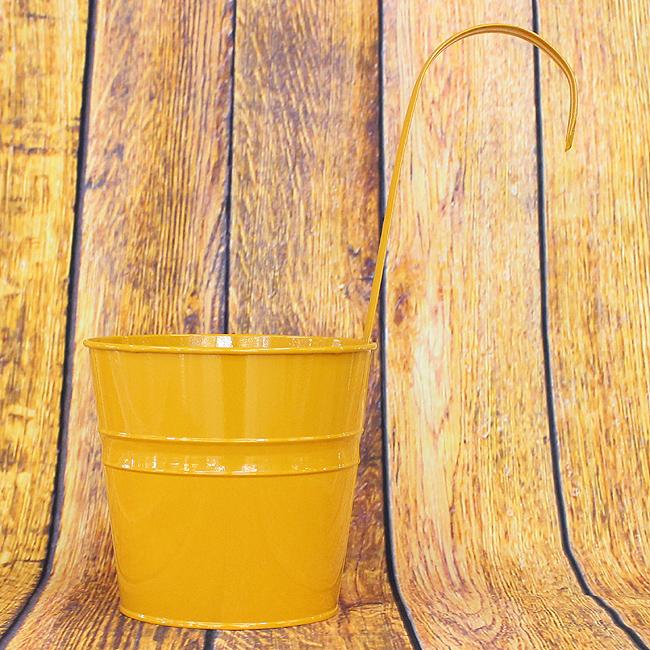 심플 벽걸이 인테리어 화분(옐로우)