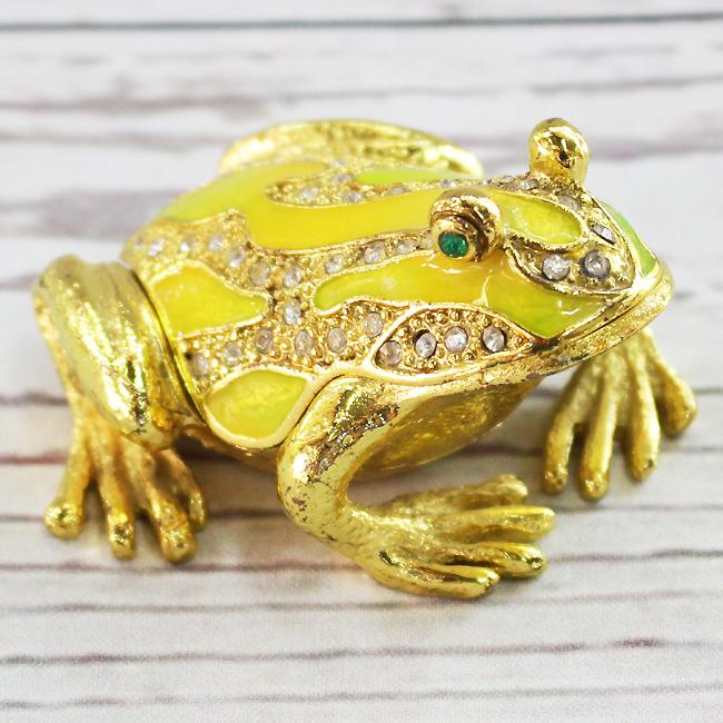 황금 개구리 장식품(옐로우) (소)