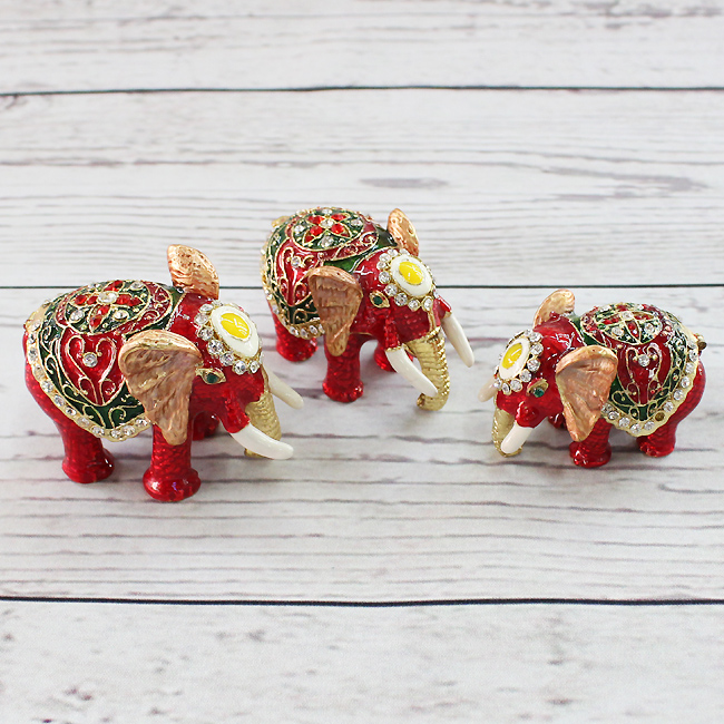 3종 이국풍 코끼리 장식품A
