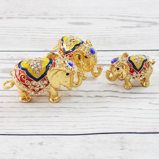 3종 황금 코끼리 장식품A