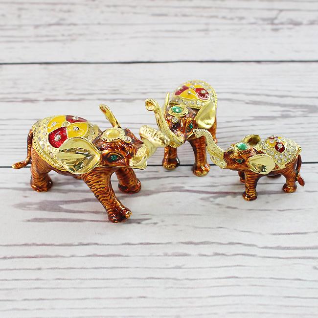 3종 황금 코끼리 장식품B