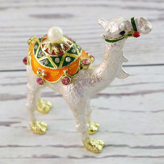 이국풍 흰색 낙타 장식품A