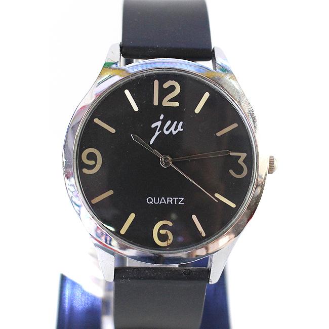 4넘버 실버  남성 손목시계(블랙)