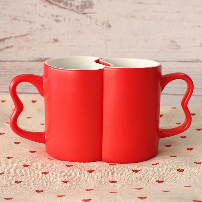 반쪽 찾기 커플 머그컵(빨강)