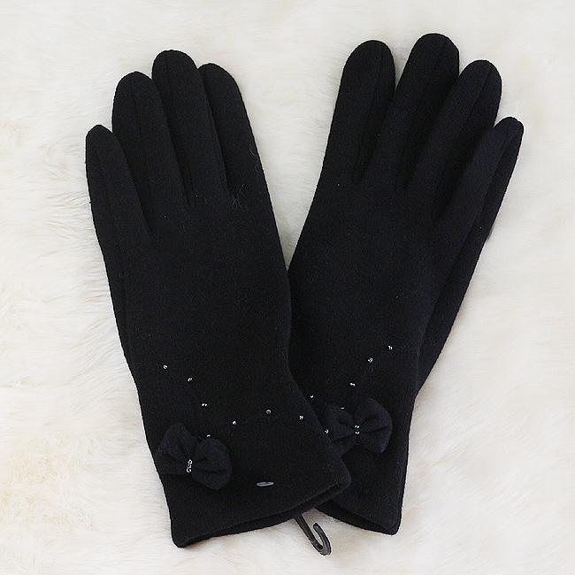 블랙 비즈 장갑