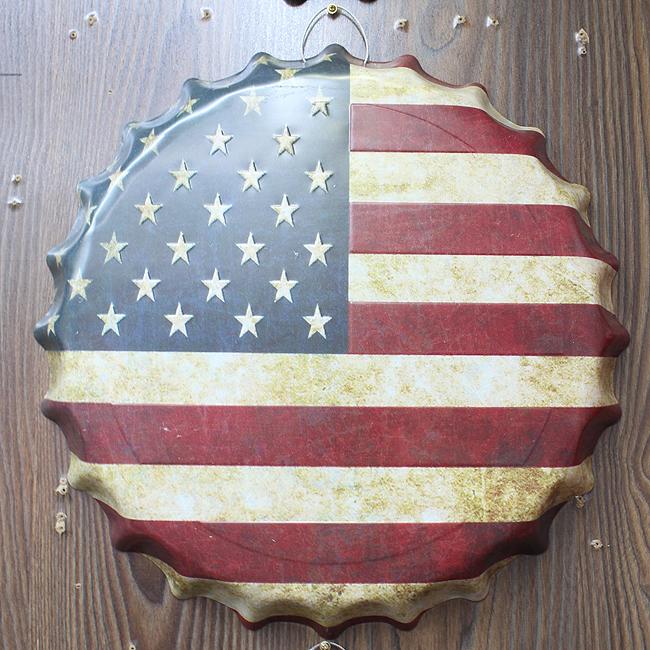 보틀캡 벽장식(아메리카)