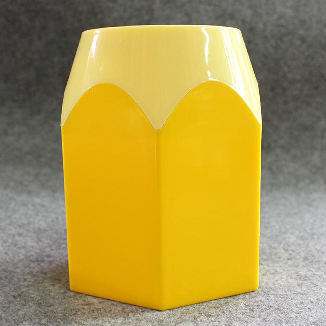 원형 컬러 연필꽂이(옐로우)