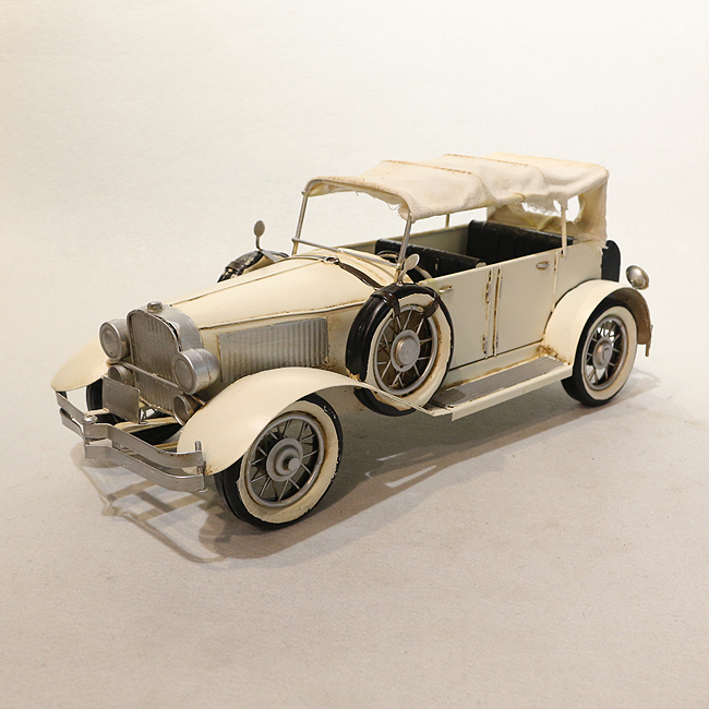 모형 철제 클래식 자동차(화이트 밴)