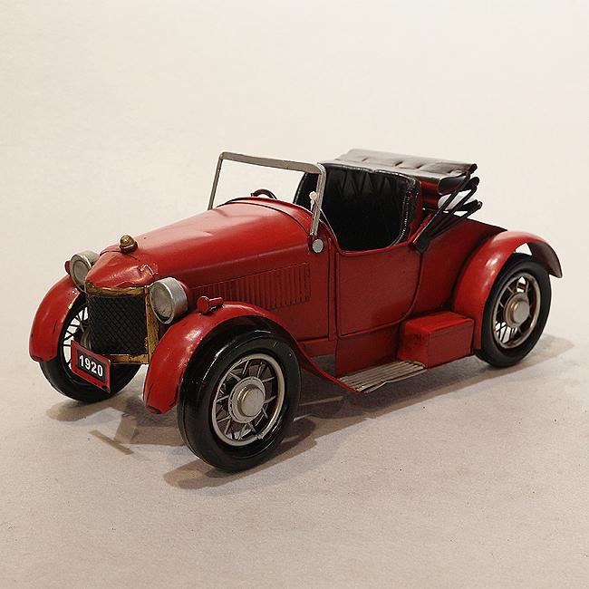 모형 철제 클래식 자동차(레드) (B)