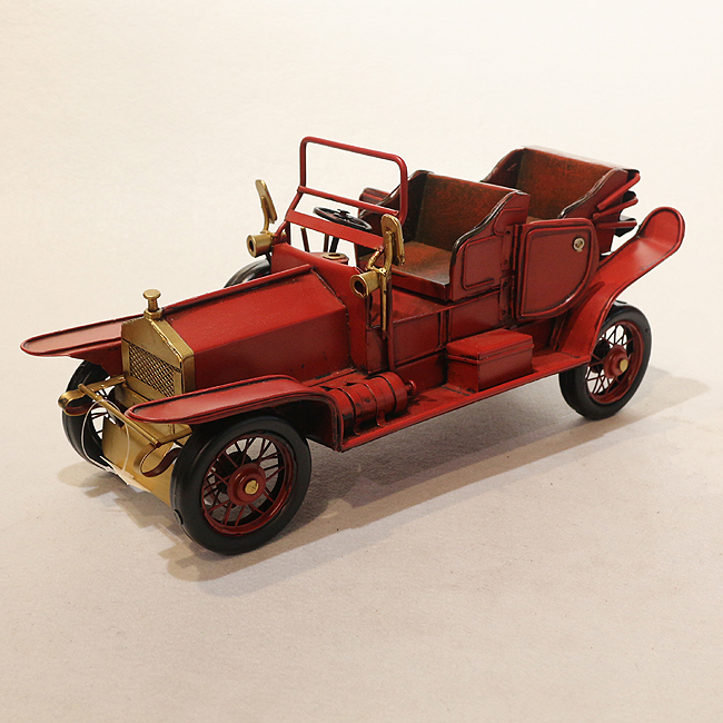 모형 철제 클래식 자동차(레드) (A)