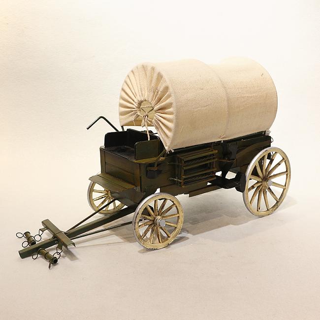 모형 철제 4바퀴 수레