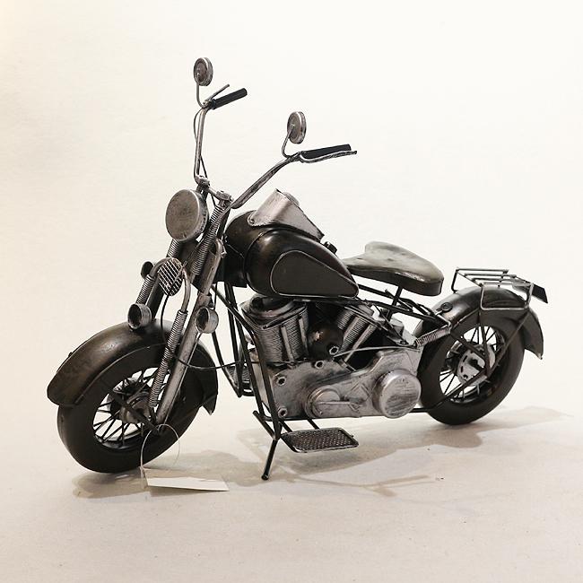 모형 철제 클래식 오토바이(블랙)
