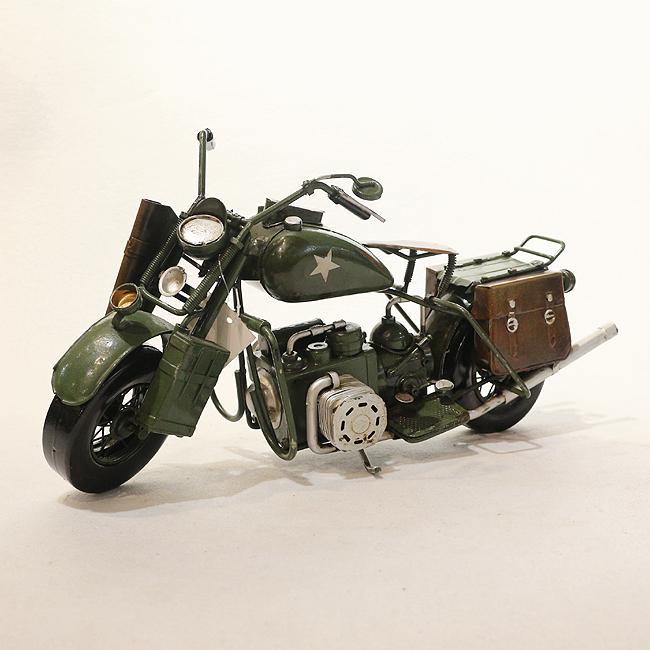 모형 철제 클래식 오토바이(그린)