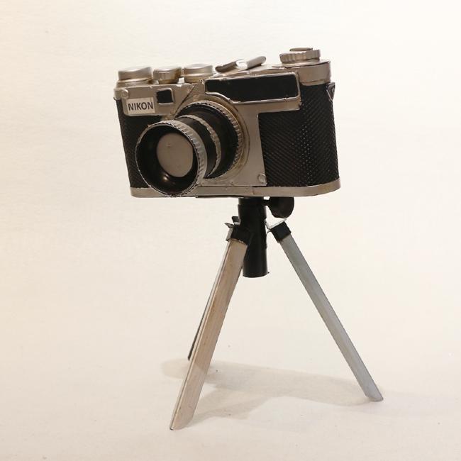모형 철제 엔틱 삼각대 받침 카메라
