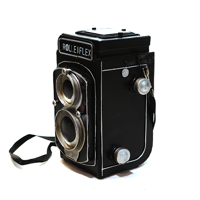 모형 철제 쌍렌즈 카메라(A)