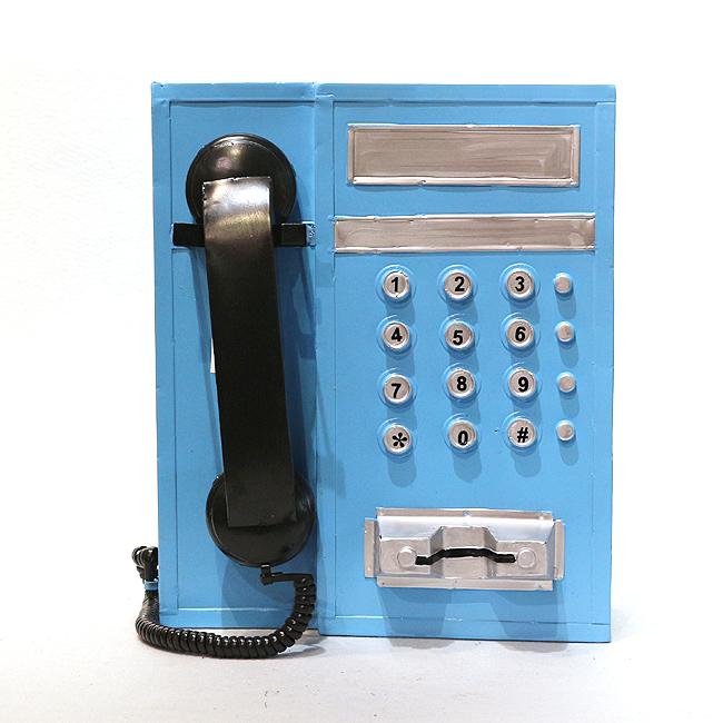 모형 철제 엔틱 전화기(스카이)