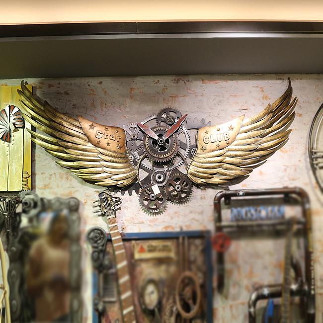 모형 철제 대형 날개 달린 벽시계