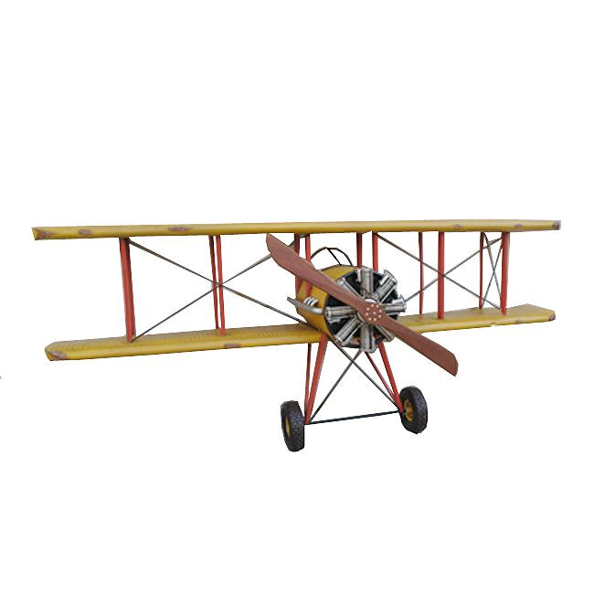 모형 철제 초대형 엔틱 비행기