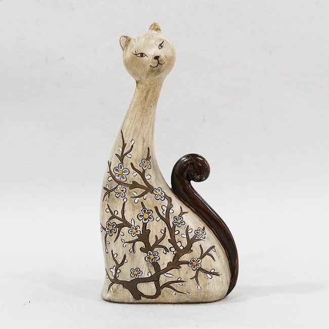 수지 나무꽃 고양이