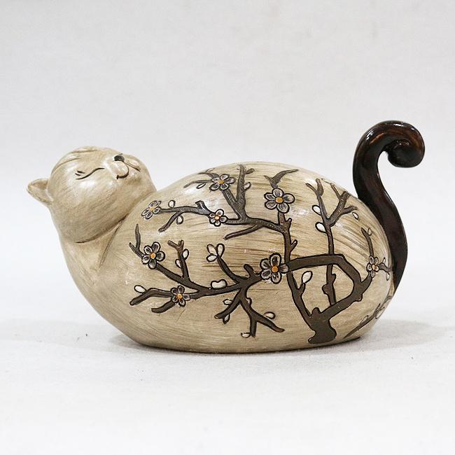 수지 나무꽃 뚱보 고양이