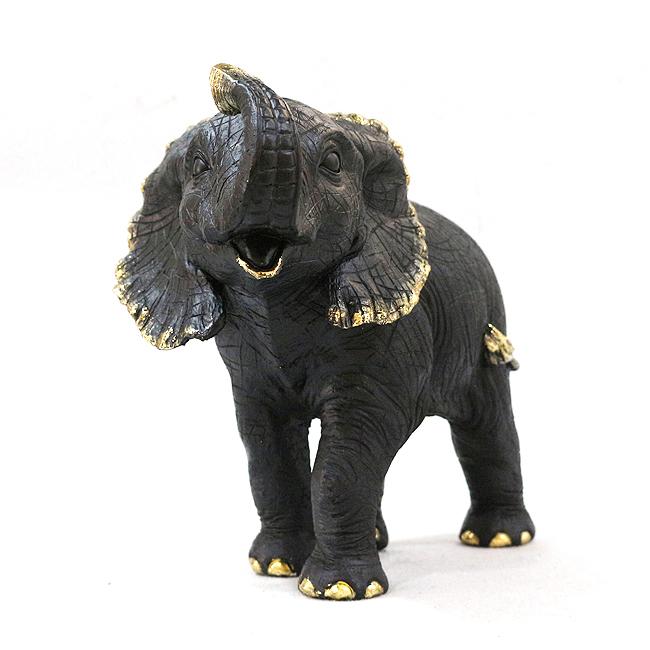 수지 코끼리 장식(블랙)