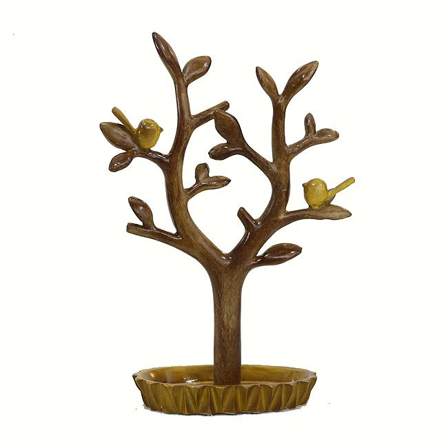 새와 나무 조각상(23cm)