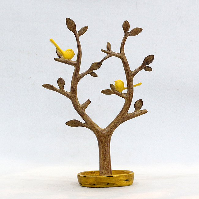 새와 나무 조각상(38cm)