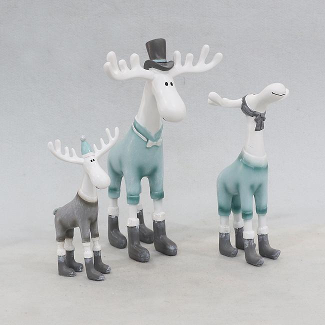 패밀리 사슴 조각상