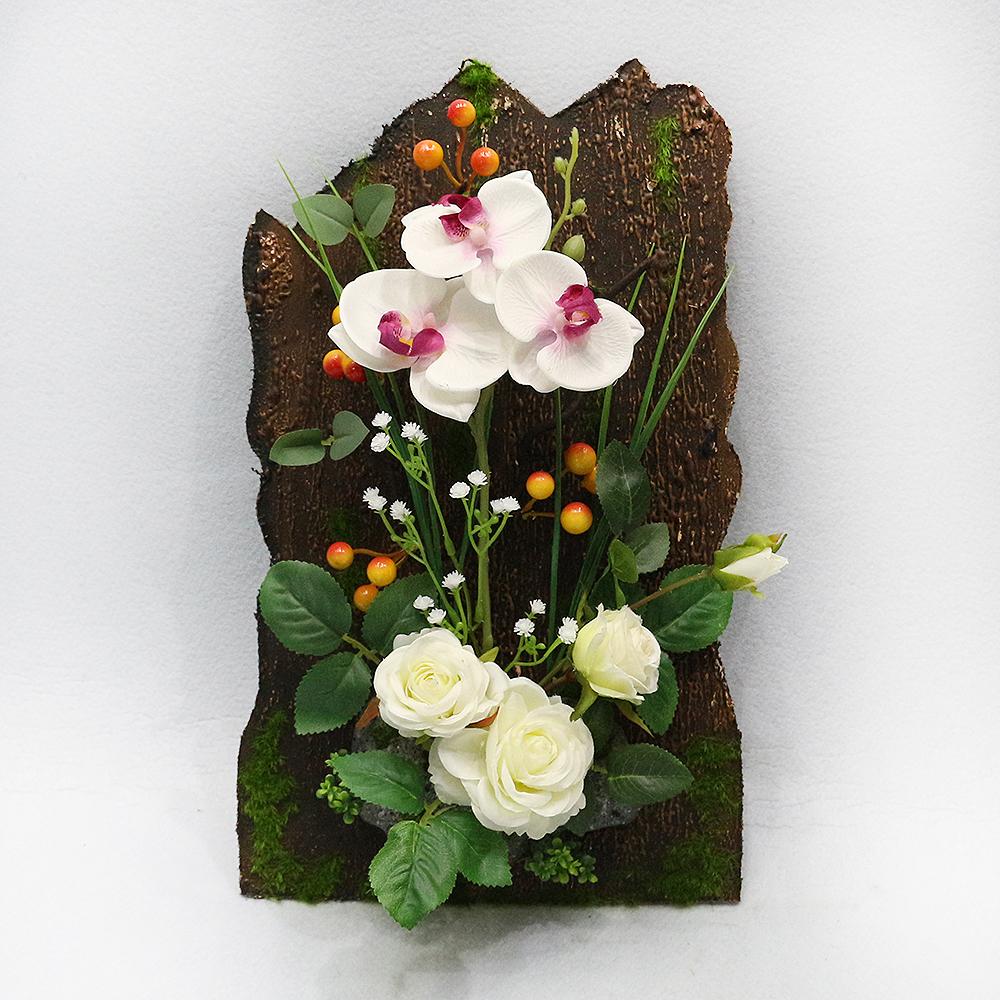 산속 풍경 벽걸이 인테리어 조화(화이트 꽃잎)