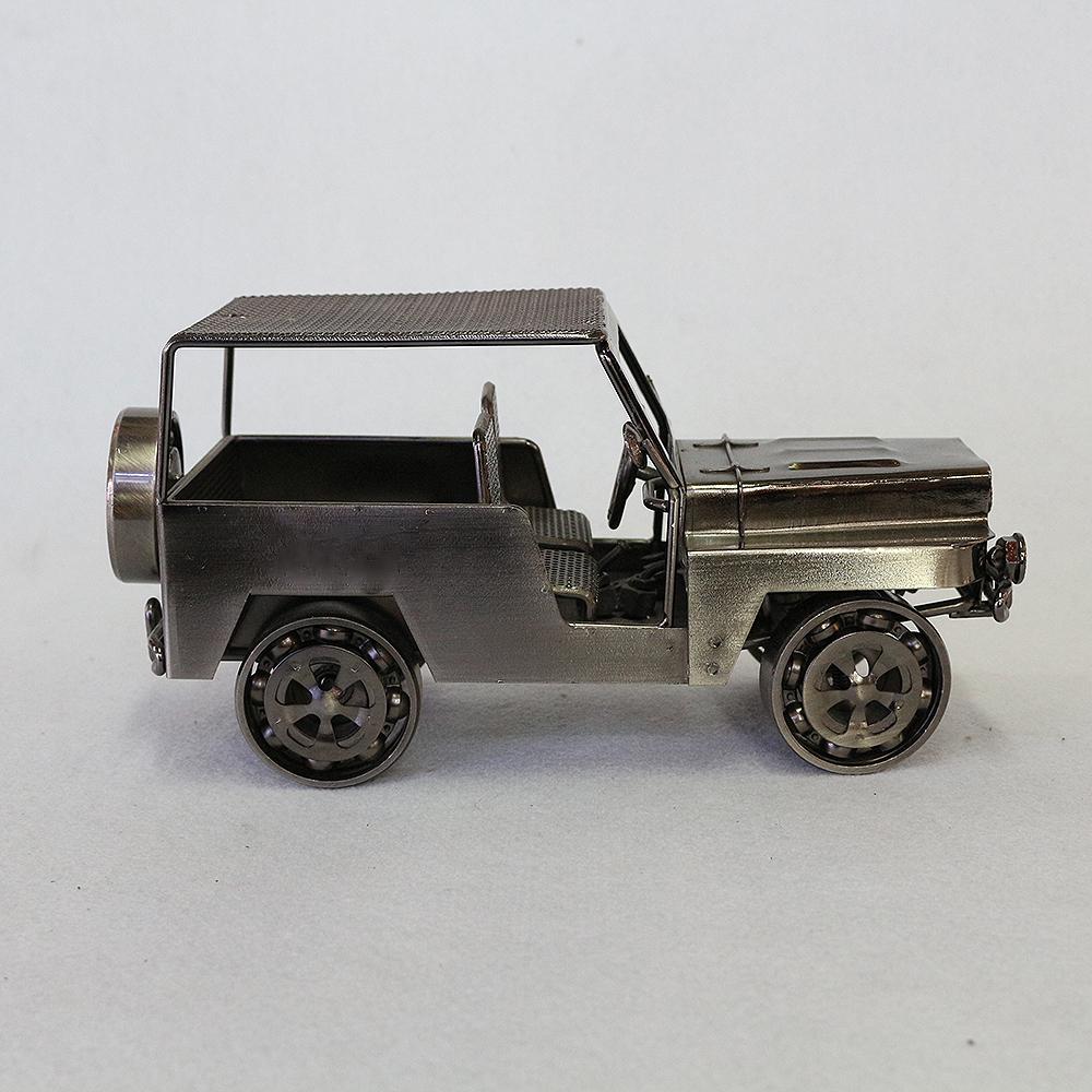 철제 군용 자동차 장식(블랙)