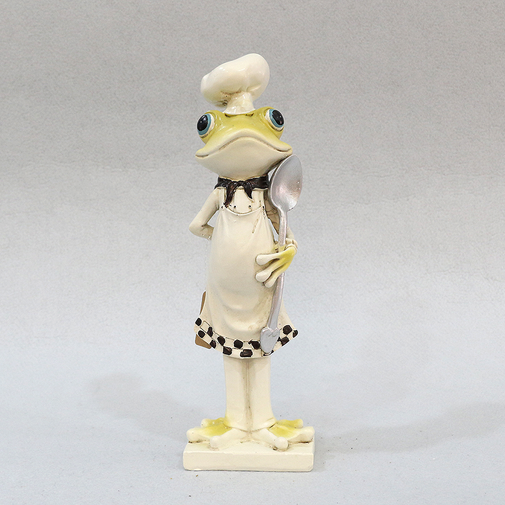 개구리 요리사 조각상 (셰프)