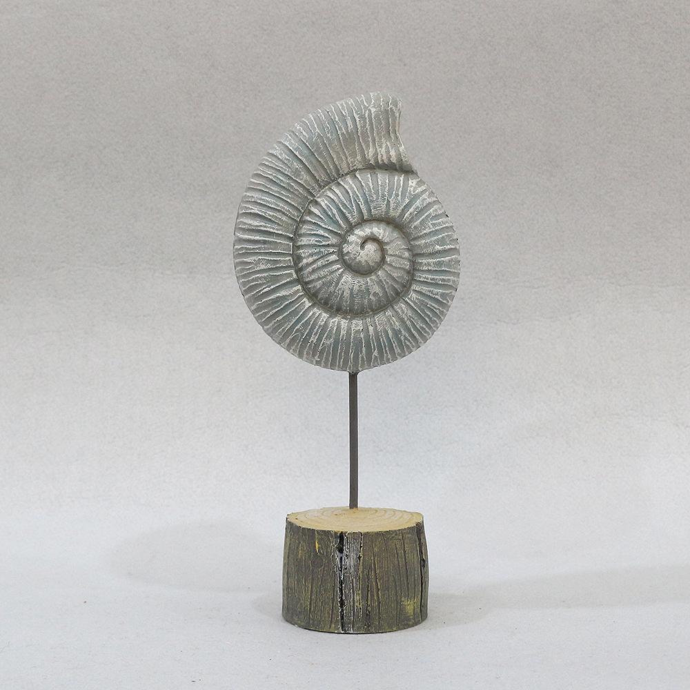 암모나이트 화석 조각상(大)