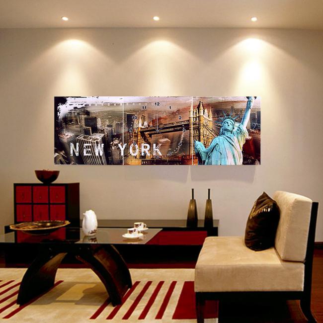 뉴욕시티 풍경액자 벽시계/집들이선물시계 벽걸이시계