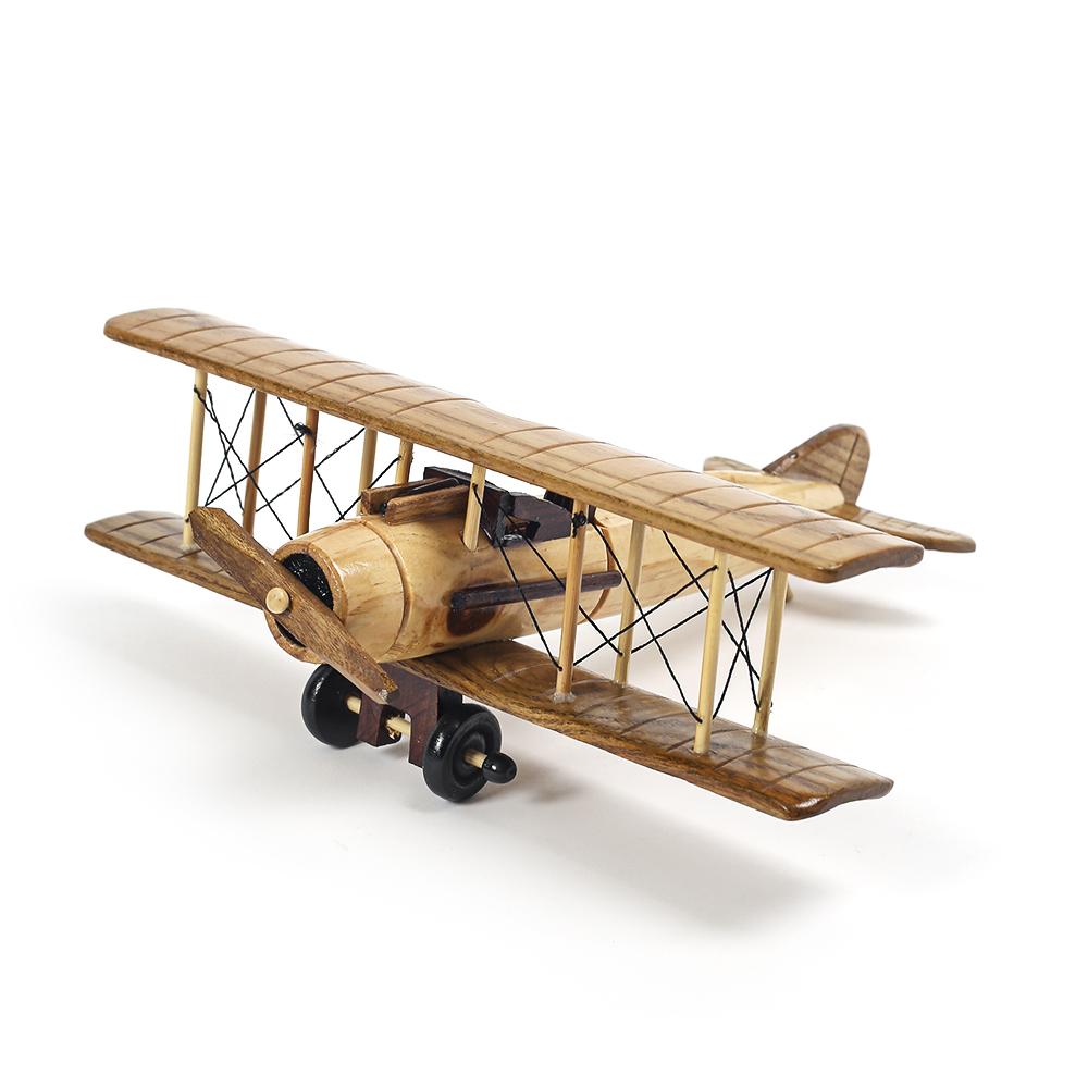 앤틱 원목 모형비행기(26cm)/핸드메이드 비행기 완구